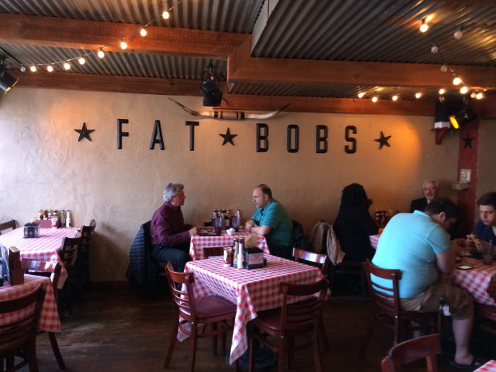Fat Bob's dining room, bbq, buffalo ny, step out buffalo