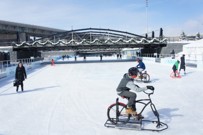 Ice Biking at Canalside