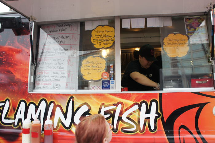 We 39 re fired up about the flaming fish food truck step for Flaming fish food truck