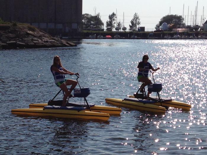 water bike-canalside