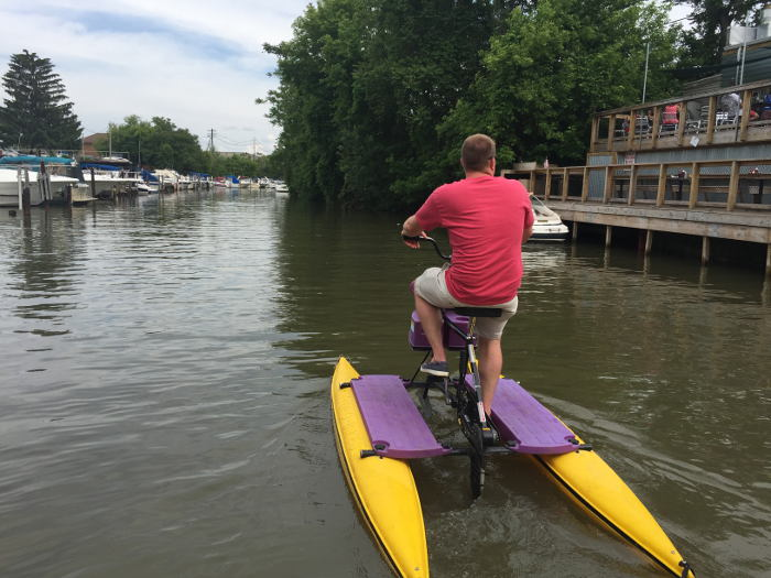 Water Biking in Tonawanda