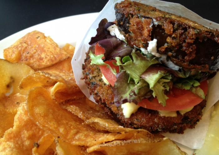 Eggplant Sandwich at Osteria 166 / Step Out Buffalo