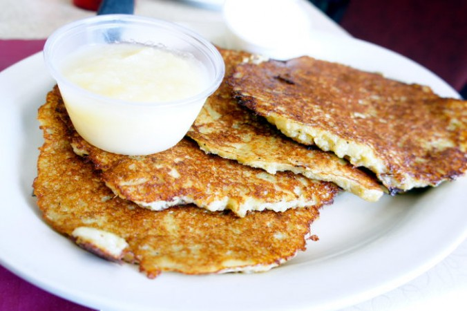 Potato Pancakes at Polish Villa