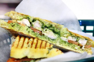 Fresh Healthy Cafe Turkey Pesto Panini