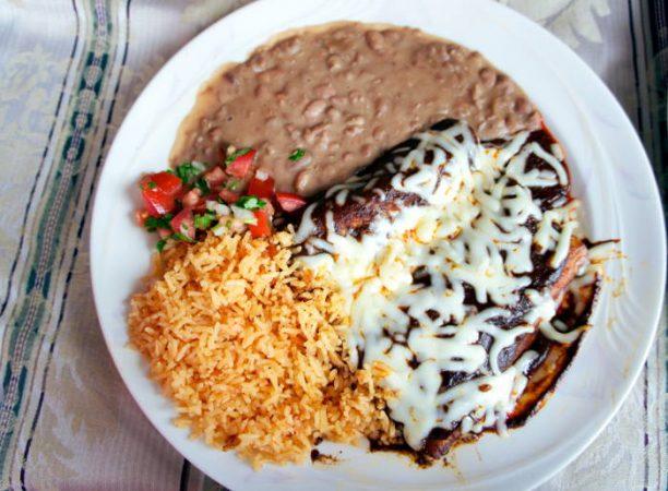 valle-of-mexico-mole-poblano-enchilada