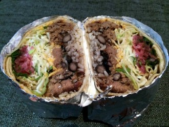 Inside a Lloyd Taco Truck Burrito