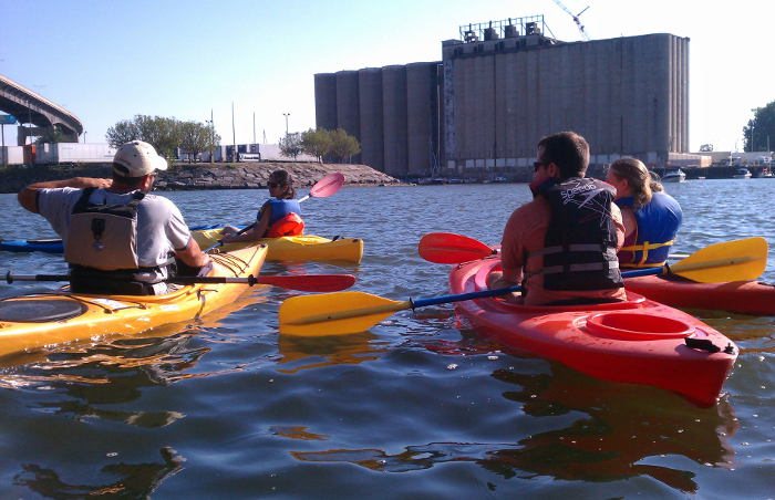7 Ways to Experience Silo City, Buffalo NY, Silo City, Kayaks, Kayak Tours, Step Out Buffalo