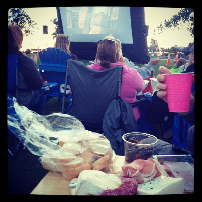 Outdoor Movie at Canalside