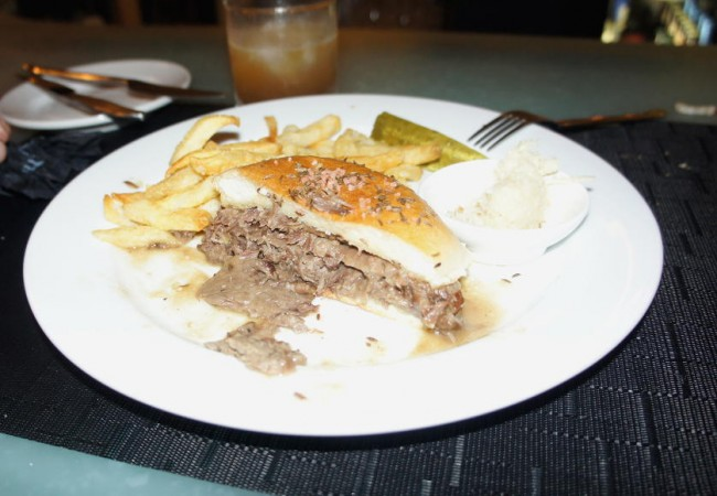Bourbon and Butter Beef on Weck