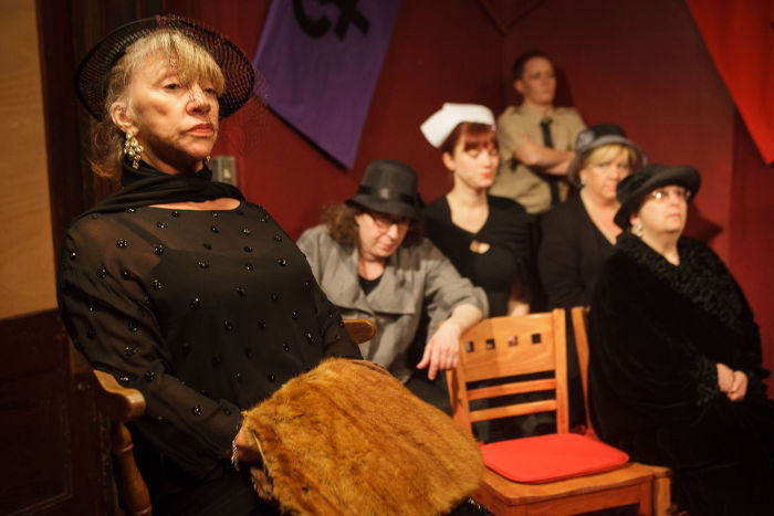 "Photo from the Brazen-Faced Varlets' Facebook of last season's ""The Anastasia Trials in the Court of Women"""