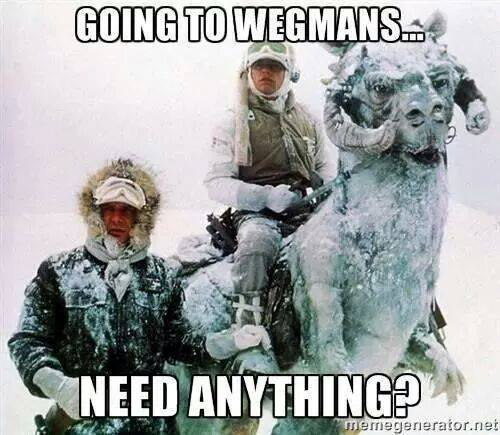 Going to Wegmans.. Need Anything?