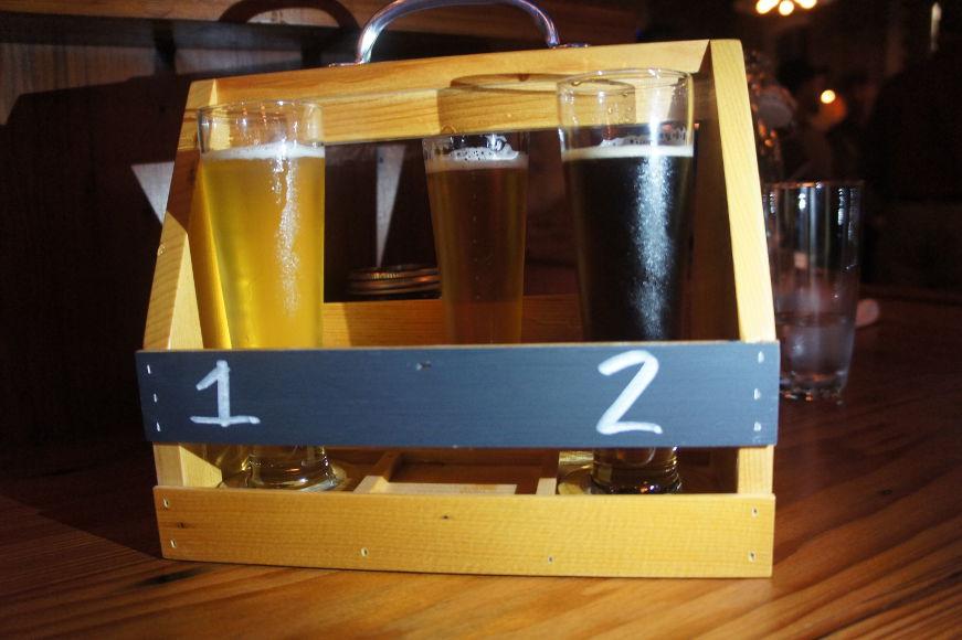 Flight of Community Beer Works beer