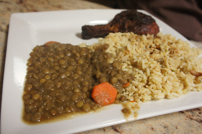 Lentils & Okra Rice