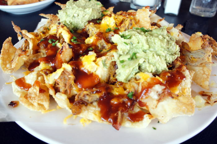 Hawaiian Pulled Pork Nachos @ The Press Box