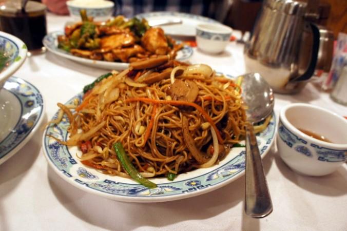 #28 Stir Fried Roast Pork with Egg Noodle (Mi Xao Xa Xiu)