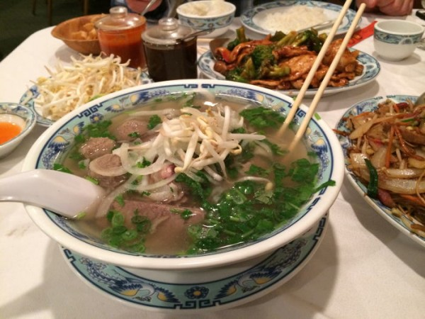 #7 House Special Beef Rice Noodle Soup with Rare beef, Tripe, Tendon, Beef Ball (Pho Dac Biet)