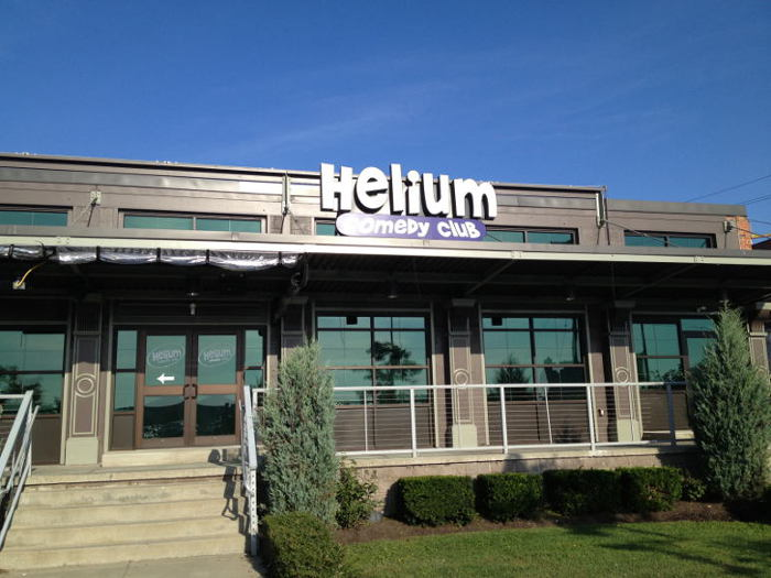 Where to go before after garth brooks step out buffalo for Helium comedy club
