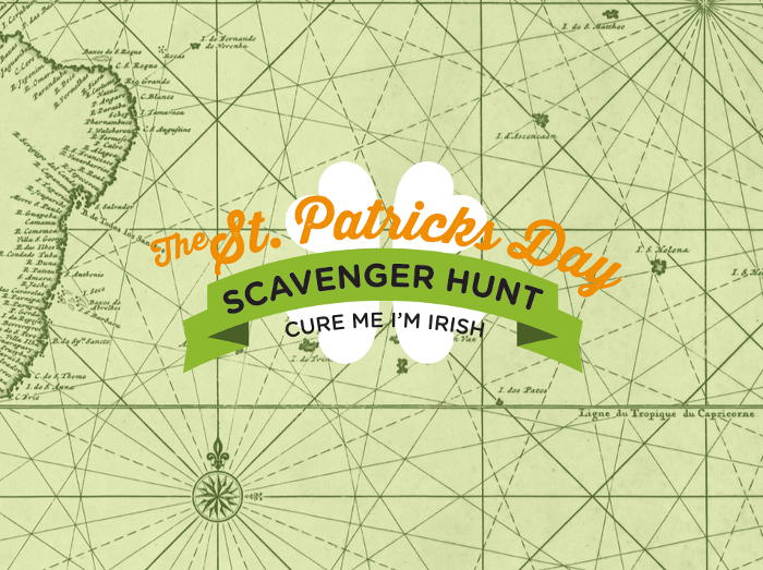 St. Patrick's Day Scavenger Hunt Map