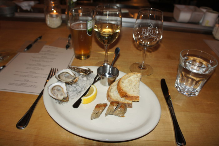 Coupe des Anges Oysters with Roasted Bockworst