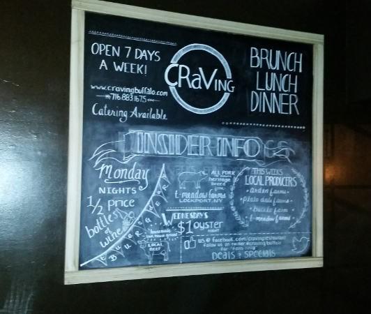 Craving, Buffalo, best restaurant, Hertel, dining