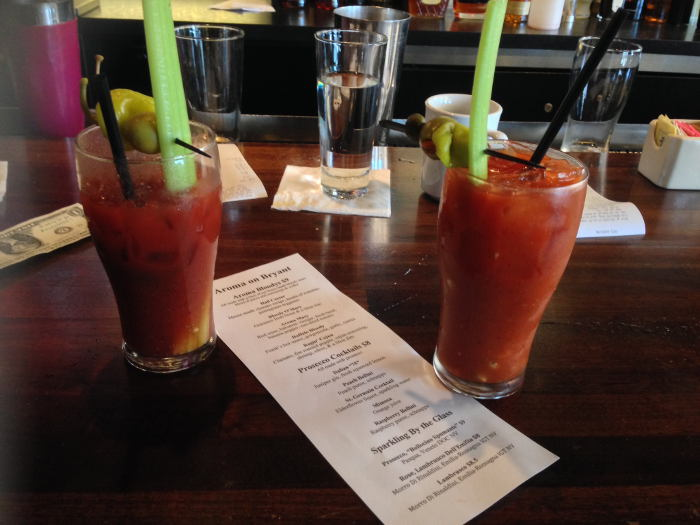 Bloody Mary's at Aroma on Bryant Brunch - Buffalo NY