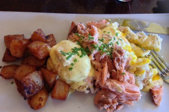 Aroma Benedict with Smoked Salmon at Aroma on Bryant Brunch - Buffalo NY