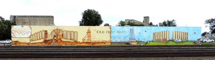 Old First Ward Mural / Photo by Lauren Spoth