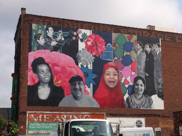 """Grant Street Global Voices"" - Street Art in Buffalo NY"