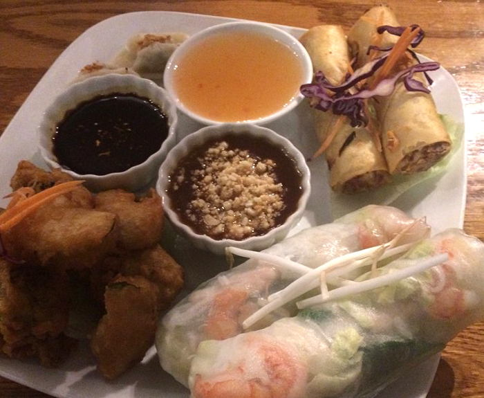 Jasmine Thai Sampler Plate  - Best Thai in Buffalo, NY