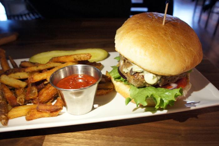 Blue Cheese Mushroom Burger