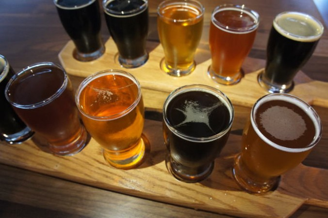 Big Ditch Brewing Co. in Buffalo NY - Flights of beer