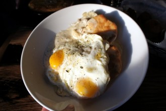 Biscuits and Gravy at Toutant in Buffalo NY