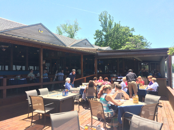 Public House on the Lake patio in the sun