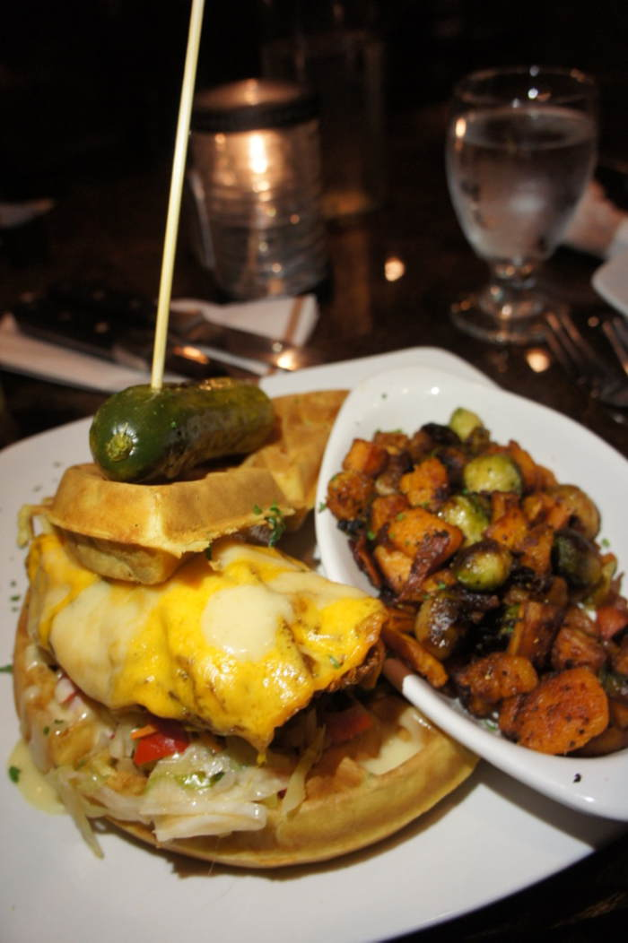 Chicken and Waffle Sandwich, Griffon Gastropub, Clarence NY, Step Out Buffalo