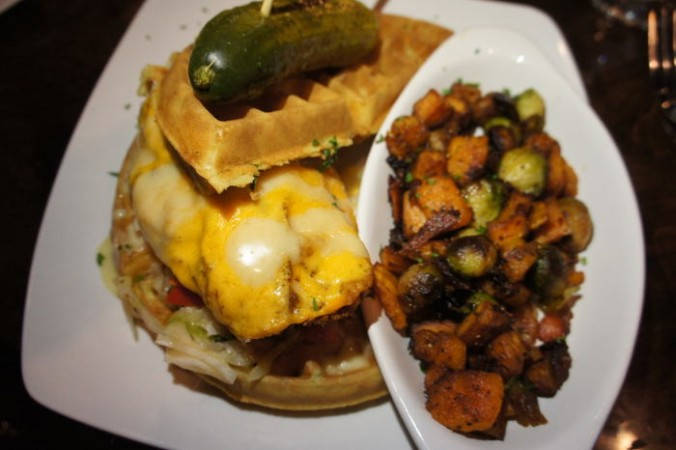 Chicken and Waffle Sandwich from G2 / Step Out Buffalo