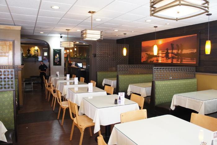 Sun Restaurant's dining room