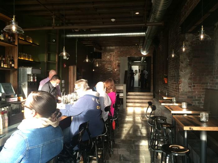 Bar area at Toutant in Buffalo NY