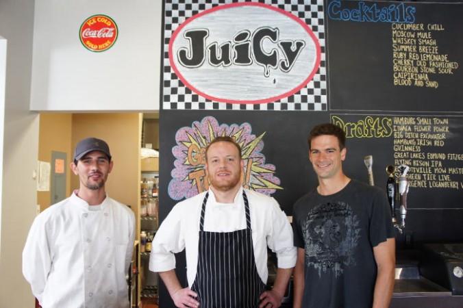 Chef Steve Smith, Chef Andrew Murtha & Bartender Evan Granville