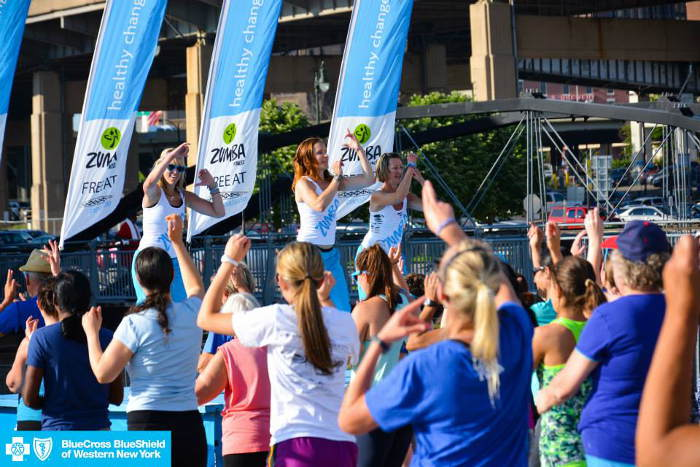 Zumba at Canalside / Photo from BlueCross BlueShield's Facebook