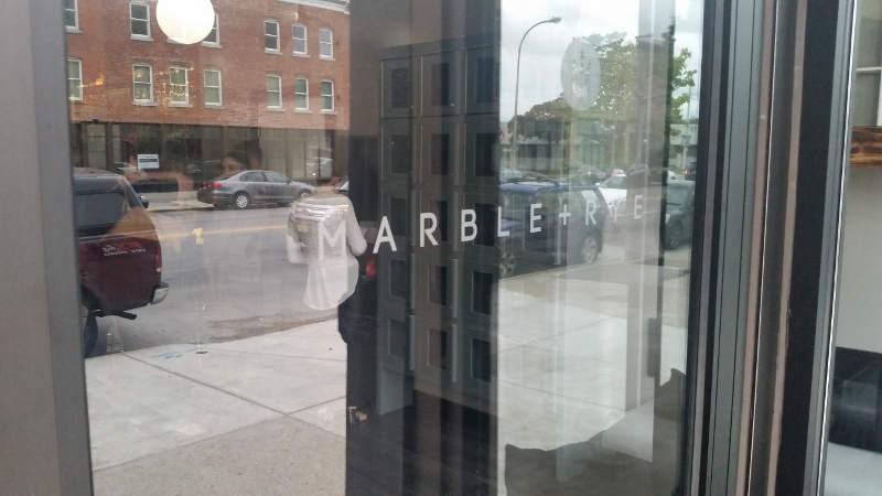 Marble and Rye Front Door