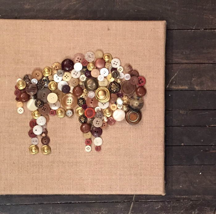 Button Art Hangings