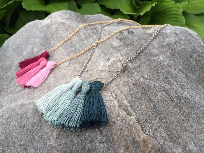 Ombré Tassel Necklaces