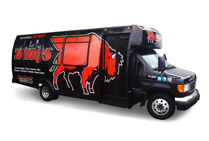 Buffalo Wings Bus, Step Out Buffalo, Buffalo NY