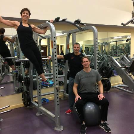 Jewish Community Center men at gym