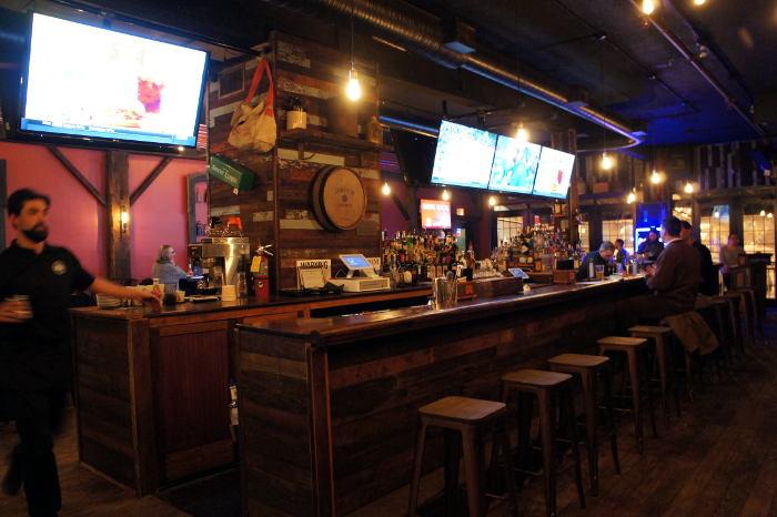 the bar at Local Kitchen and Beer Bar