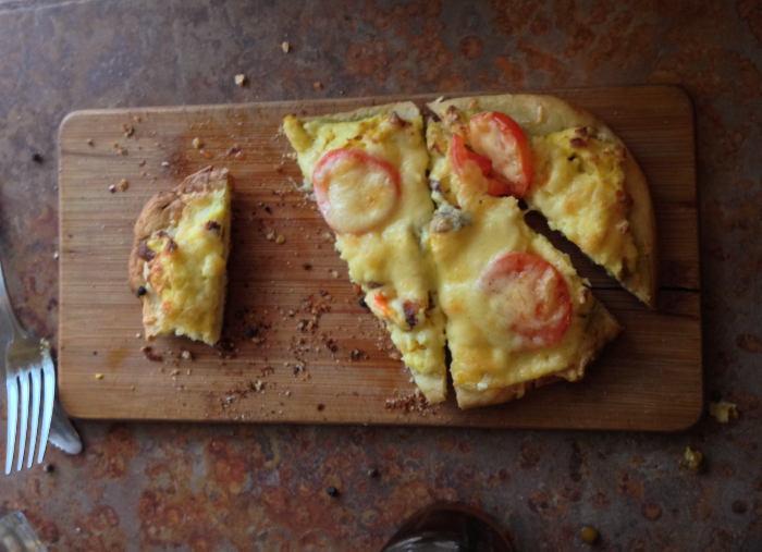 Breakfast Pizza at Merge