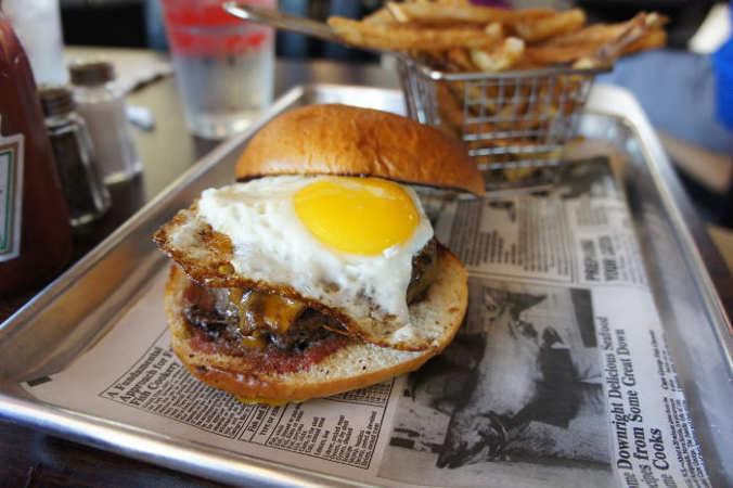 Yolks on You Burger @ Juicy