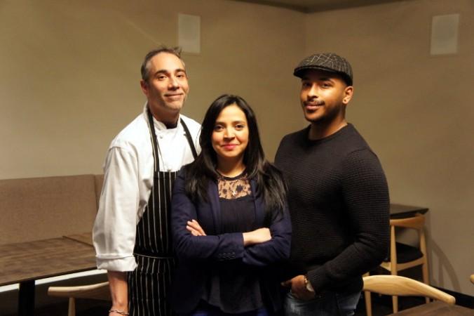 Chef Manuel Cruz, Owner Yeslin Greason, & Beverage Director Josh Campbell