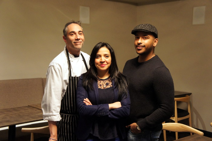 Chef Manuel Cruz, Owner Yeslin Greason, & Beverage Director Josh Campbell