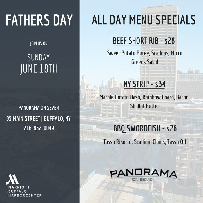 Panorama on Seven Father's Day menu